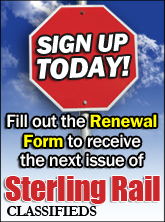 Renew Sterling Rail Classifieds Publication